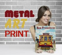 San Francisco Tram USA - Metal Signs Prints Wall Art Print, - Vintage Travel Metal Poster